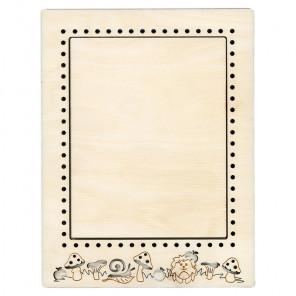Ежик средняя Рамка деревянная для вышивки ОР-096