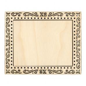 Пасха малая Рамка деревянная для вышивки ОР-100
