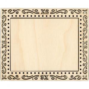 Пасха большая Рамка деревянная для вышивки ОР-102
