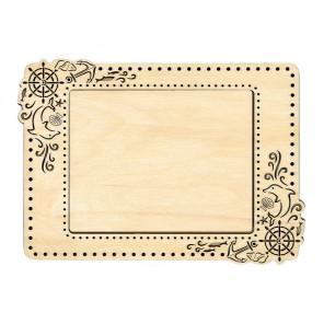 Морская малая Рамка деревянная для вышивки ОР-103
