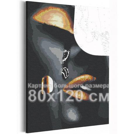 Девушка и слеза 80х120 см Раскраска картина по номерам на холсте с металлической краской AAAA-RS040-80x120