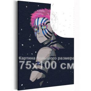 Аказа, ночь / Аниме Истребители демонов 75х100 см Раскраска картина по номерам на холсте с неоновыми красками AAAA-ANI032-75x10