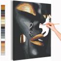 Девушка и слеза Раскраска картина по номерам на холсте с металлической краской AAAA-RS040