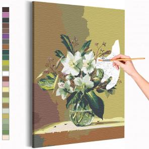 Цветы Раскраска картина по номерам на холсте AAAA-RS115