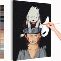 Киба и Акамару / Аниме Наруто Раскраска картина по номерам на холсте AAAA-ANI031