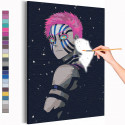 Аказа, ночь / Аниме Истребители демонов Раскраска картина по номерам на холсте с неоновыми красками AAAA-ANI032