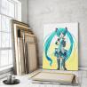 Хацунэ Мику 80х100 см Раскраска картина по номерам на холсте с неоновыми красками AAAA-ANI002-80x100