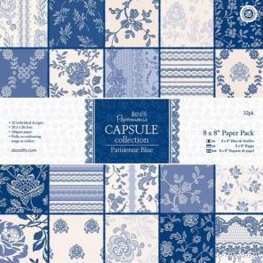 Parisienne Blue Набор бумаги 20х20 см для скрапбукинга, кардмейкинга Docrafts