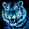 Неоновый тигр Алмазная вышивка мозаика АЖ-1868