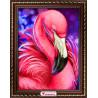 Пример оформления в рамке Яркий фламинго Алмазная вышивка мозаика АЖ-1869