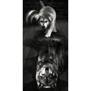 Волк внутри Алмазная вышивка мозаика АЖ-1870