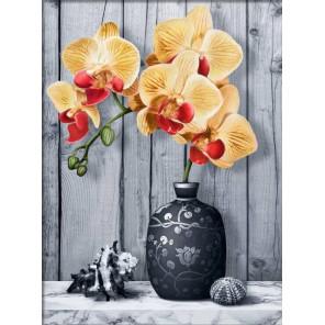 Орхидея на мраморе Алмазная вышивка мозаика АЖ-1865