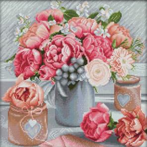 Романтичный букет Алмазная вышивка мозаика АЖ-1867