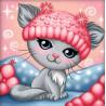 Котенок в шапочке Алмазная вышивка мозаика АЖ-1862