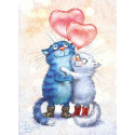 Будь моей валентинкой Алмазная мозаика вышивка Гранни Ag2661