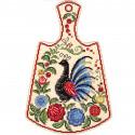 Расписной павлин Набор для вышивания на деревянной основе МП Студия О-008