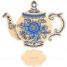 Состав набора Приятного чаепития Набор для вышивания на деревянной основе МП Студия О-010