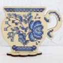 Время пить чай Набор для вышивания на деревянной основе МП Студия О-011
