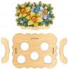 Состав набора Цветочная. Подставка под яйца Набор для вышивания на деревянной основе МП Студия О-012