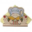 Гном. Салфетница Набор для вышивания на деревянной основе МП Студия О-014