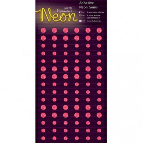 Neon Pink Полубусинки декоративные самоклеющиеся элементы Docrafts