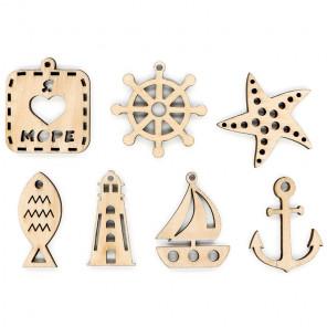 Пример применения Набор морских декоративных элементов ОР-098