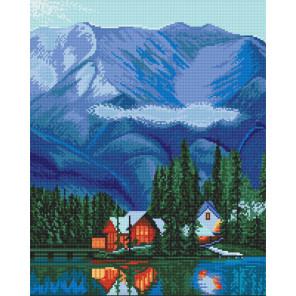 Домик в горах Алмазная вышивка мозаика Алмазное Хобби AH5452