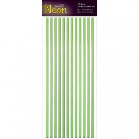 Neon Green Полоски бордюры для скрапбукинга, кардмейкинга Docrafts