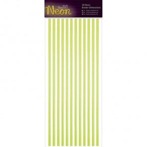 Neon Yellow Полоски бордюры для скрапбукинга, кардмейкинга Docrafts