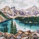 Озеро Морейн Алмазная вышивка мозаика Овен М-001