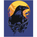 Ворон и луна 100х125 Раскраска картина по номерам на холсте
