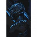 Чёрная пантера 80х120 Раскраска картина по номерам на холсте