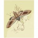 Коричневая бабочка Раскраска картина по номерам на холсте