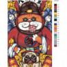Кот и бульдог 100х150 Раскраска картина по номерам на холсте
