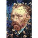 Винсент Ван Гог в цветах 80х120 Раскраска картина по номерам на холсте