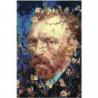 Винсент Ван Гог в цветах 100х150 Раскраска картина по номерам на холсте