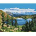 Горные вершины Раскраска картина по номерам на холсте U8126