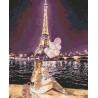 Ночной Париж Раскраска картина по номерам на холсте U8073