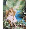 Ангелочек у воды Раскраска картина по номерам на холсте U8025