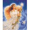 Ангел Рождества Раскраска картина по номерам на холсте U8028