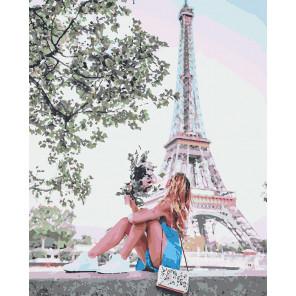 Летний Париж Раскраска картина по номерам на холсте U8020