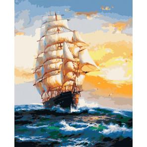 Под парусами Раскраска картина по номерам на холсте U8011