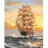 На всех парусах Раскраска картина по номерам на холсте U8002