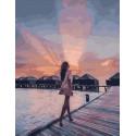 Утро на Мальдивах Раскраска картина по номерам на холсте PK11123