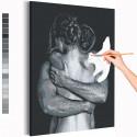 В объятиях 30х40 см Раскраска картина по номерам на холсте AAAA-RS129