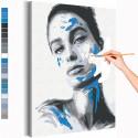 Девушка / Игра цвета Раскраска картина по номерам на холсте AAAA-RS117