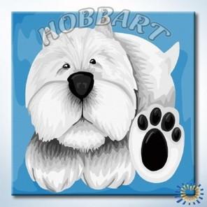 Лапы и носы. Белый Раскраска по номерам акриловыми красками на холсте Hobbart
