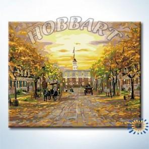 Бульвар в стиле ретро Раскраска по номерам на холсте Hobbart