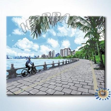 Велопрогулка Раскраска по номерам акриловыми красками на холсте Hobbart