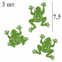3 лягушонка Набор из фетра декоративные элементы для скрапбукинга, кардмейкинга Efco